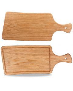 Churchill Art De Cuisine Woodware - Oblong Handled Rustic Oak Board