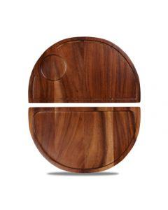 Churchill Art De Cuisine Woodware - Semi Circle Acacia Deli Board
