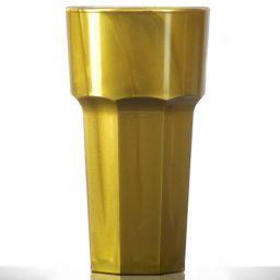 Elite Remedy Polycarbonate Tall Glass 12oz Gold