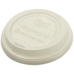 Vegware Compostable Flat Lid 79mm (8oz Hot Cup)