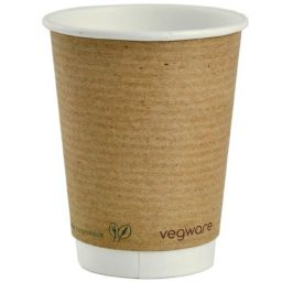Vegware Double Wall Brown Hot Cup 12oz
