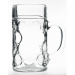 Dimpled Beer Stein Glass 45oz